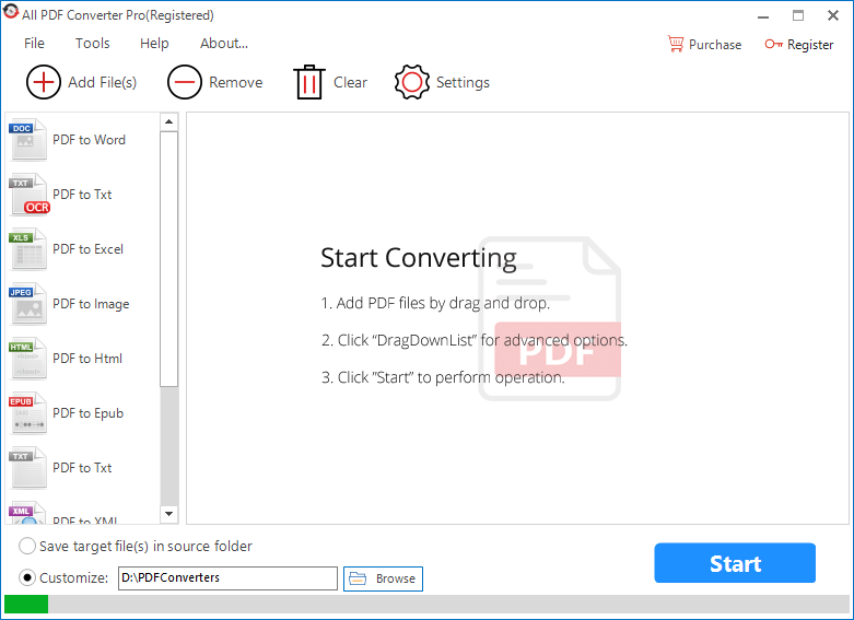 All PDF Converter full screenshot