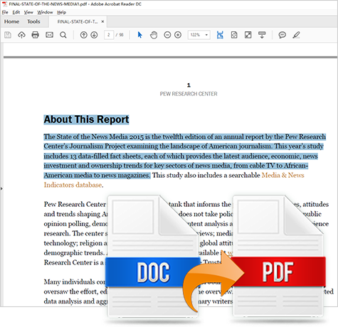 Convert Word to Selectable PDF document.