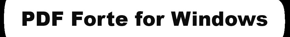 PDF Forte for Windows