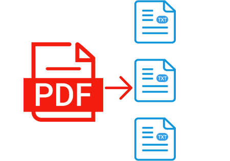 Convert PDF to editable text file.
