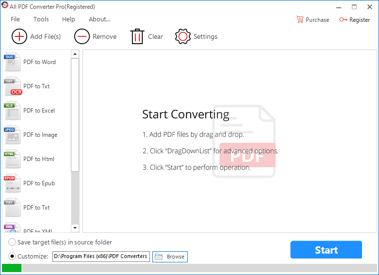 free pdf to excel conversion program