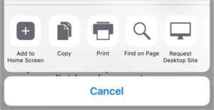 Select printer on safari.