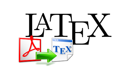 Convert PDF files to Latex files.