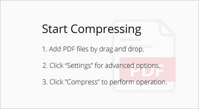 Workspace of PDF Compressor V3 where files are dragged and dropped.