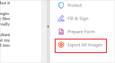 """""""Export All Images"""" option of Acrobat."""