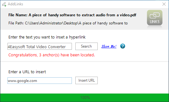 how to create hyperlink in pdf