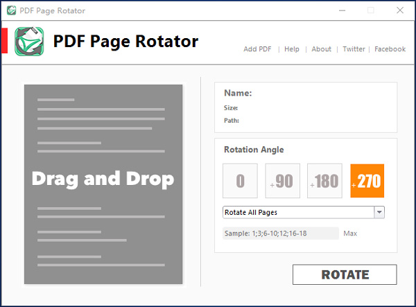 rotate some pages in pdf