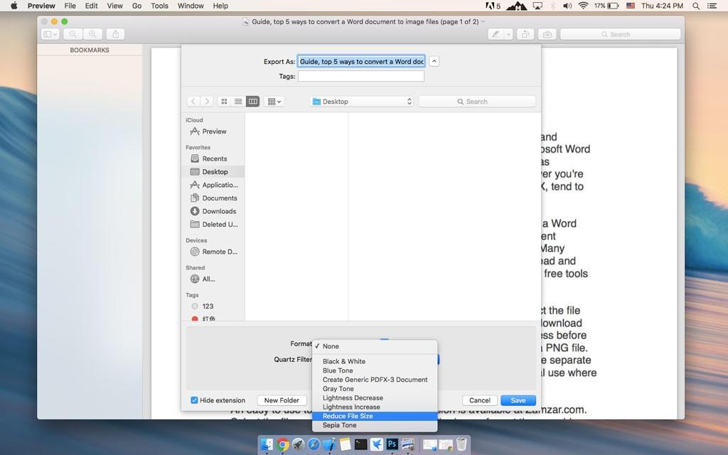 Mac reduce pdf file size