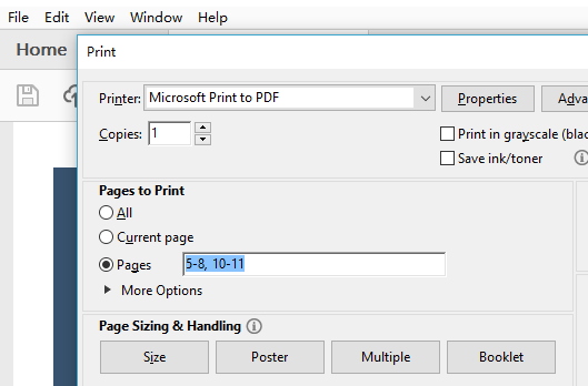 delete pages in PDF without software