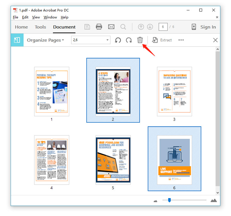 how to extract pages from pdf in preview